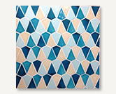 Azul Cone- Light Egyptian Blue, Egyptian Blue, Ivory, Sky Blue