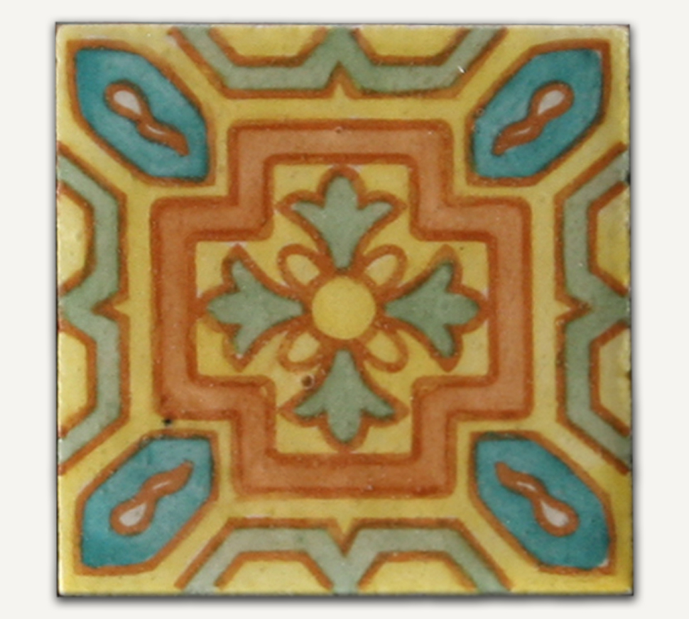 Ferrara Series Glazed And Decorated Tiles Pool Tiles