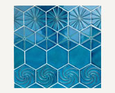 Azul Hexgon Swirl Crown  Pinpoint 118